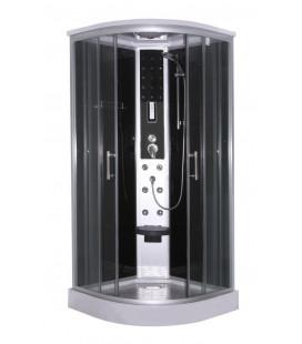 Masážní sprchový kout CL96 Scala černá verze 90x90x215