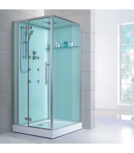 Sprchový masážní box EAGO D989 pravá verze s vaničkou 100x100x235