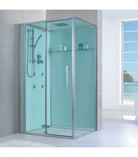 Sprchový masážní box EAGO D989 levá verze s vaničkou 100x100x235