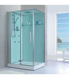Sprchový masážní box EAGO D990 levá verze s vaničkou 120x90x235