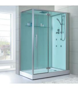 Sprchový masážní box EAGO D991 levá verze s vaničkou 150x90x235
