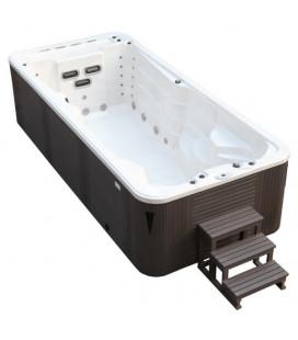 SWIM SPA - Venkovní vířivý bazének s protiproudem Sterling Silver/šedý kabinet 520x230x135