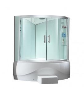 Sprchový masážní kout s vysokou vaničkou EAGO D330 levá verze 170x130x220cm